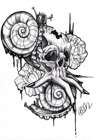Image Result For Skull And Roses