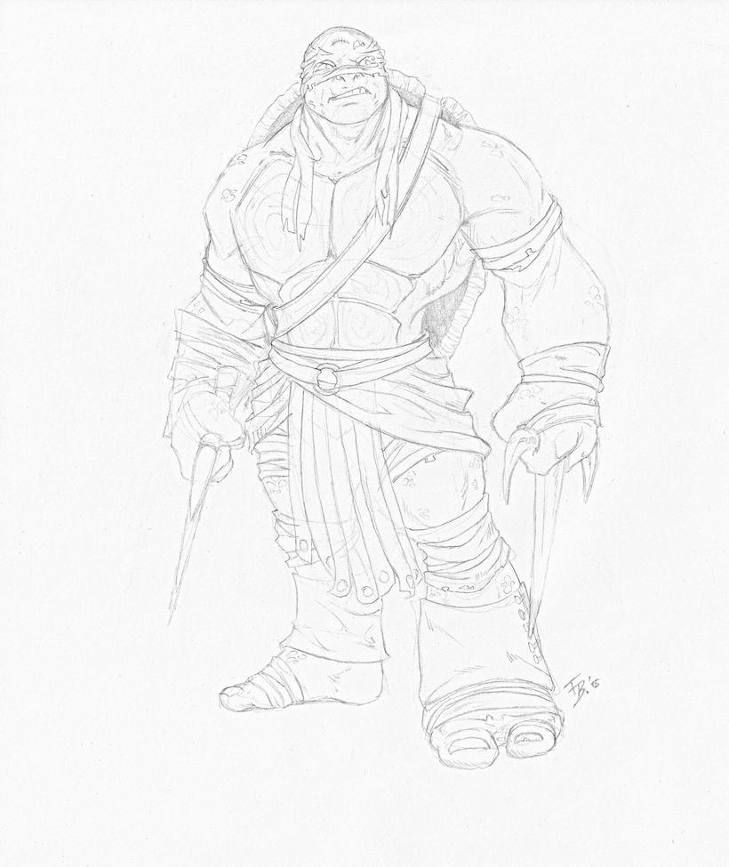 how to draw raphael tmnt