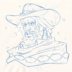 McCree - Overwatch by The-Sketch-Fox