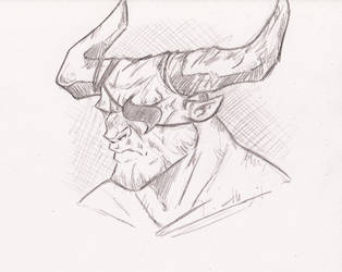 Iron Bull - Headshot by The-Sketch-Fox