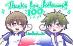 100 Followers!! by UmiHoshi