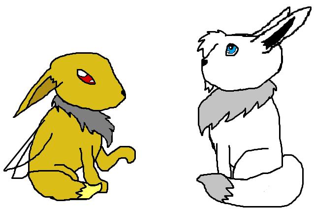 Tenshi and AbbytheShinyEevee by Tenshineko01