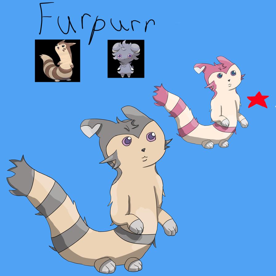 Furpurr-Furret and Espurr fusion by Tenshineko01