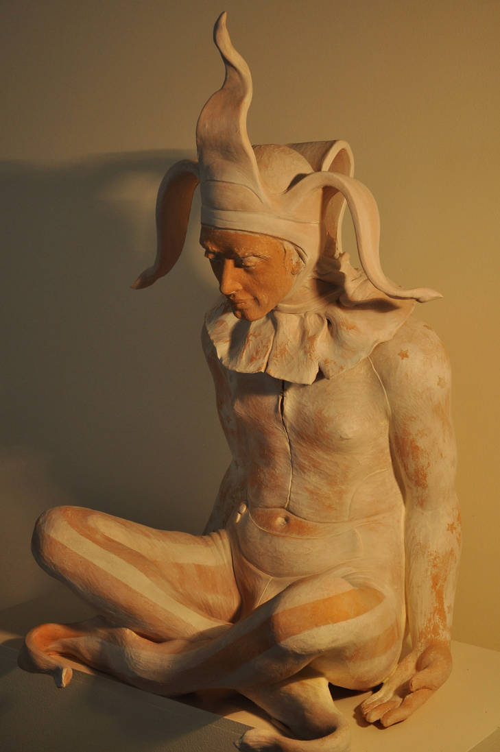 'Fool' finished 1 by JulieSwanSculpture