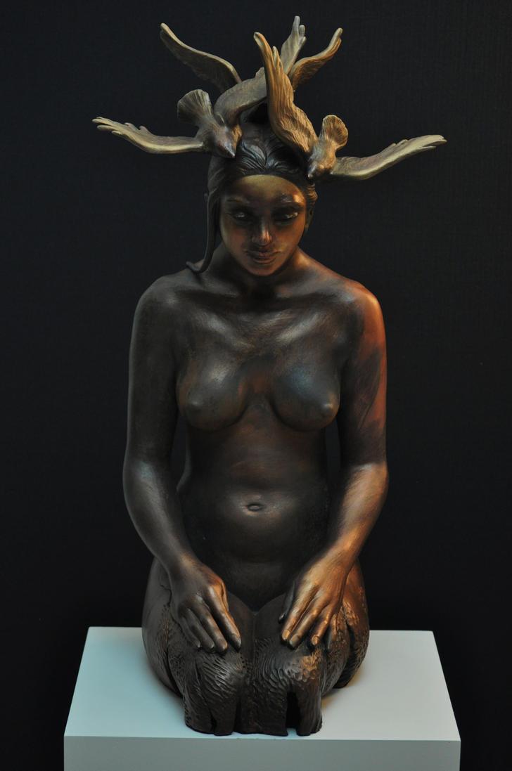 'in a moment' by JulieSwanSculpture