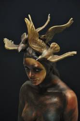 'in a moment' detail by JulieSwanSculpture