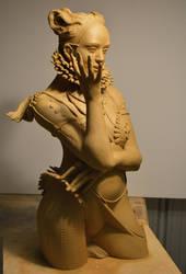Latest Greenware 2 by JulieSwanSculpture