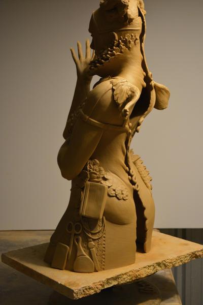 Latest Greenware 3 by JulieSwanSculpture