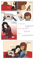 The day Korra and Asami discovered Fanart/Fanfic by Katantoon