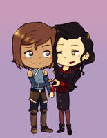 Korrasami Valentine by Katantoon