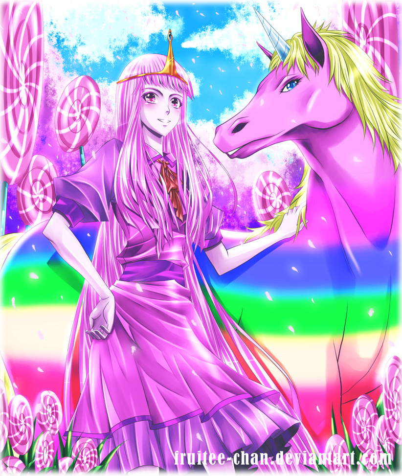 Princess Bubblegum and Lady Rainicorn by Fruitee-Chan
