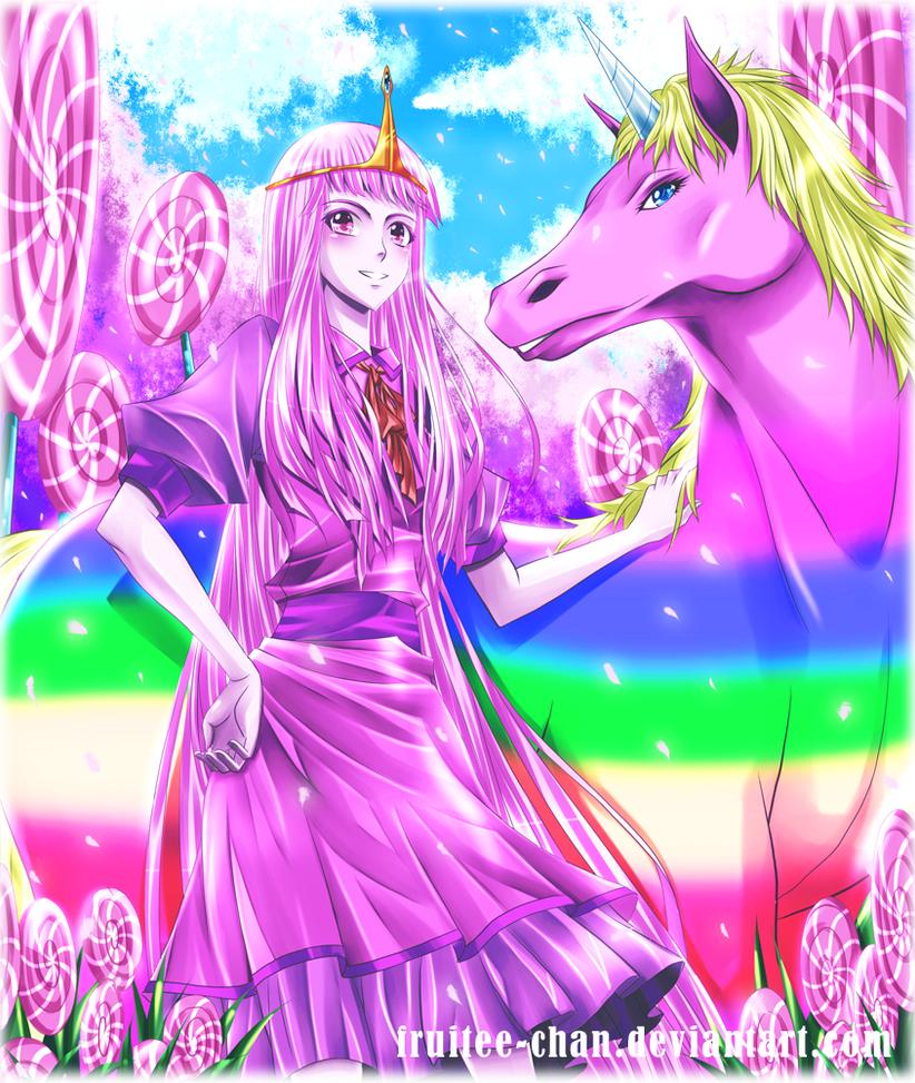 Princess Bubblegum and Lady Rainicorn by Fruitee-Chan