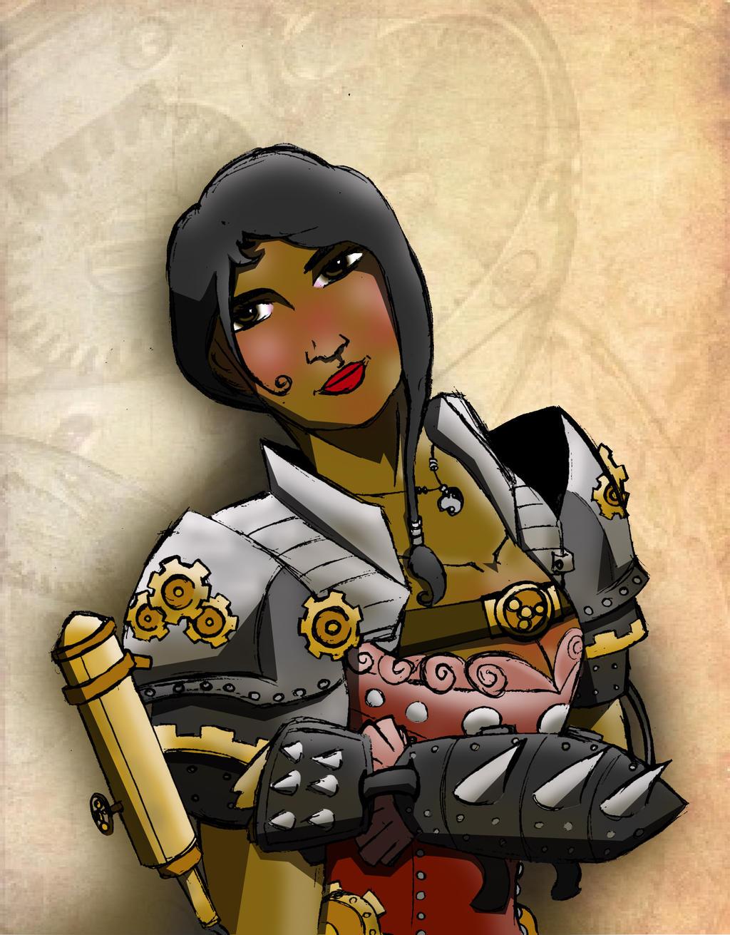 Steampunk Girl copy by Siphen0