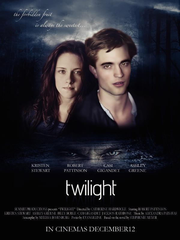 twilight movie poster by ladytorr on deviantart