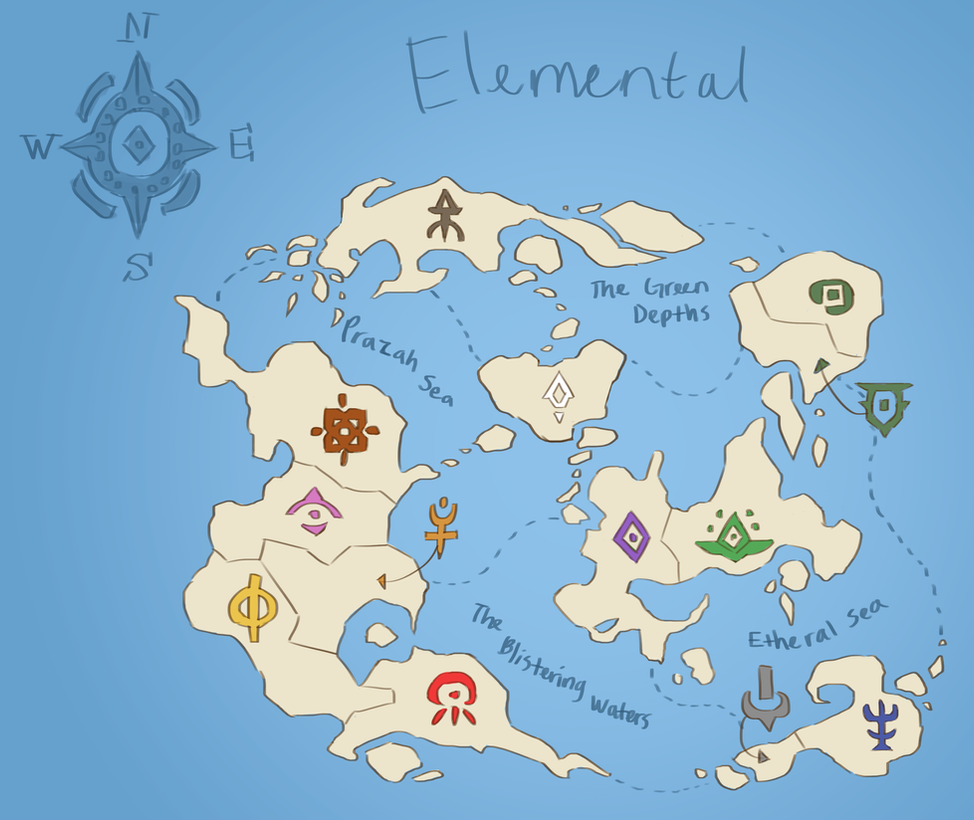 Updated Map of Elemental by eyesacksmith