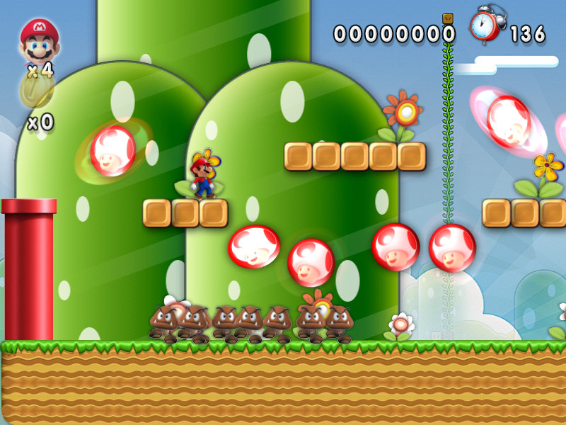 A good remake of the original Super Mario Bros