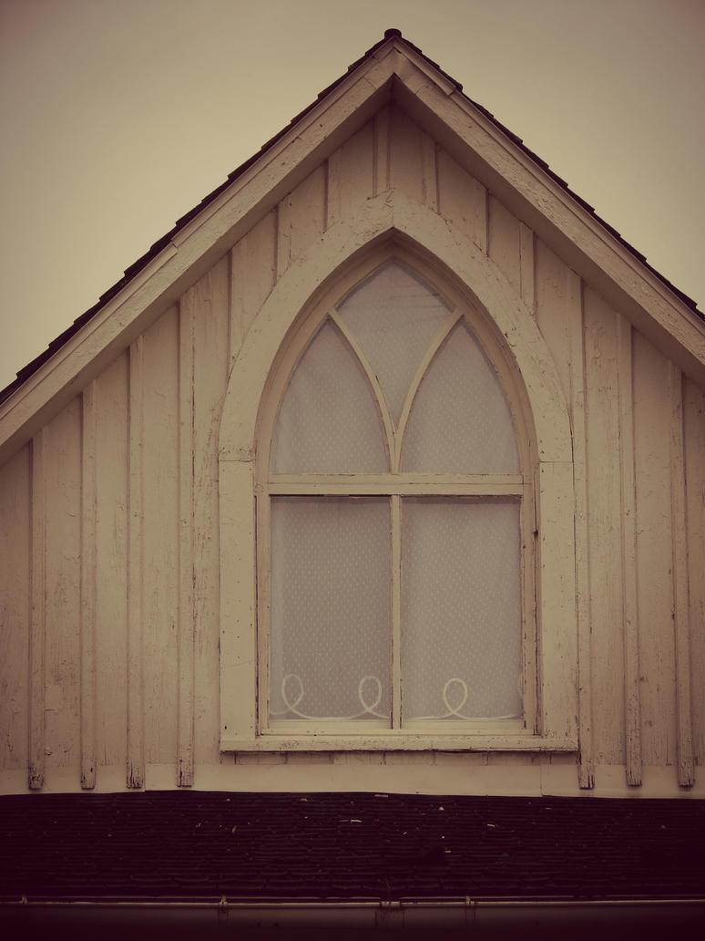 American Gothic House Window By Angelandspot