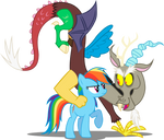 Rainbow Dash and Discord