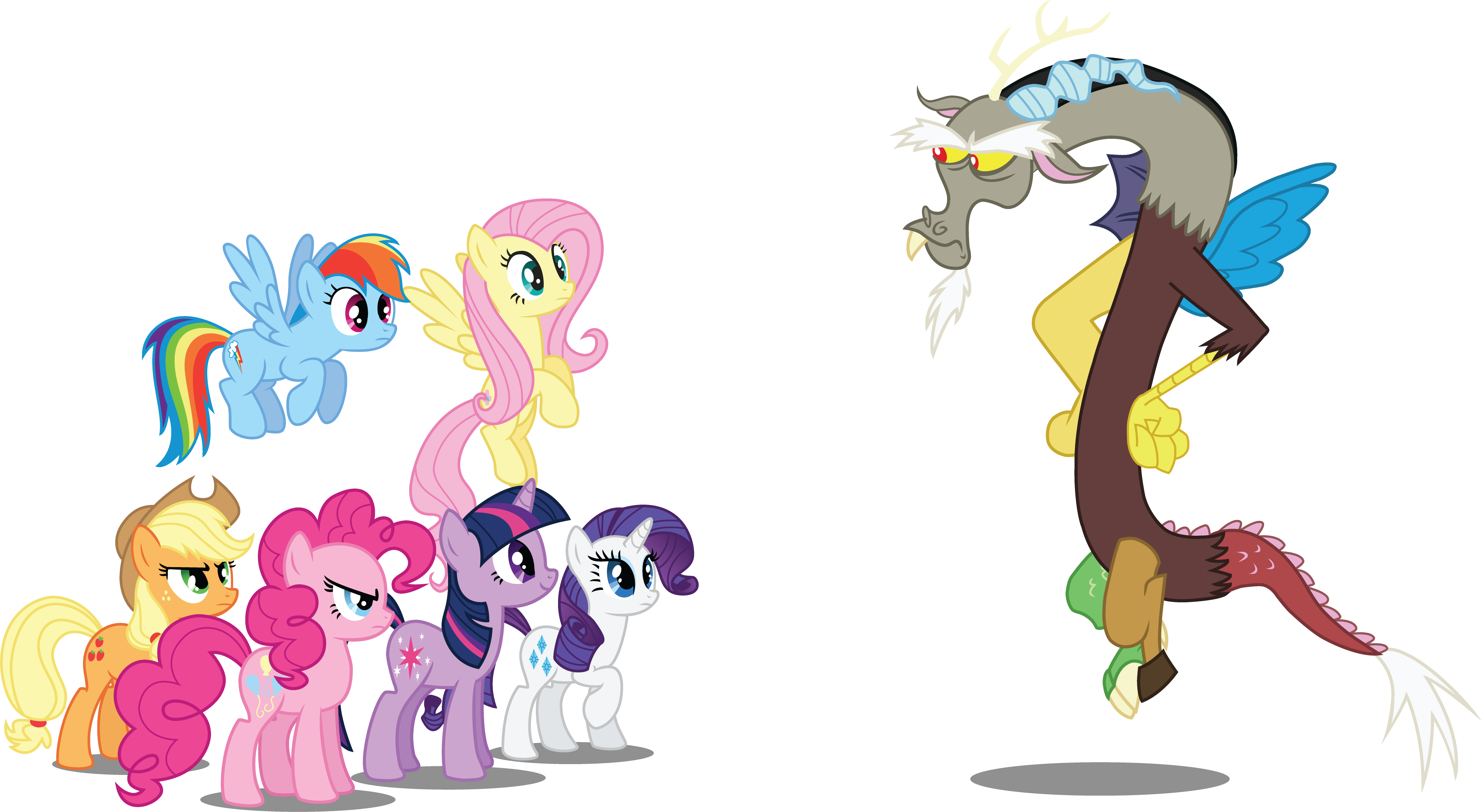 Mane6 And Discord By Jakage On DeviantArt