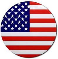 American Flag Ornament Logo by Mr-Logo
