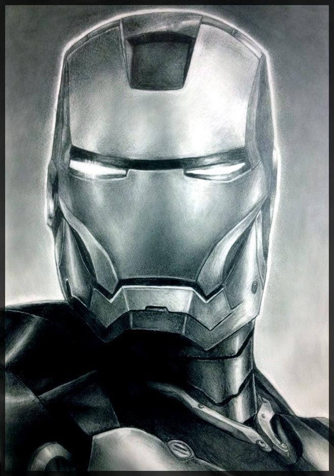 Iron Man Drawing by jamieohara on DeviantArt Iron Man Pencil Drawings
