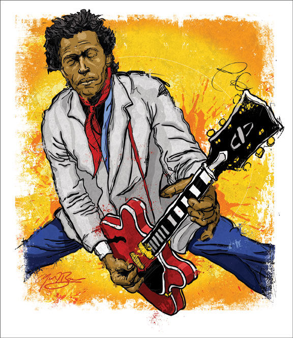 Chuck Berry Lays It Down by tbaneart