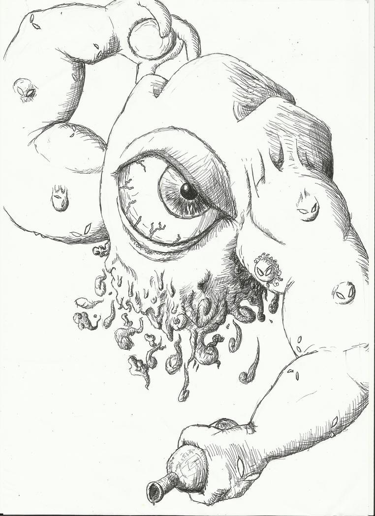 Line Drawing Kiwi : Dethl line art by metal kiwi on deviantart