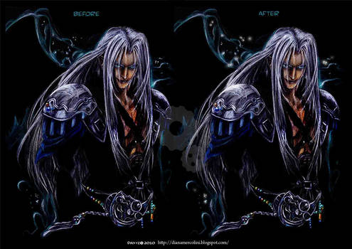 Sephiroth : Born in the dark (before/ after)