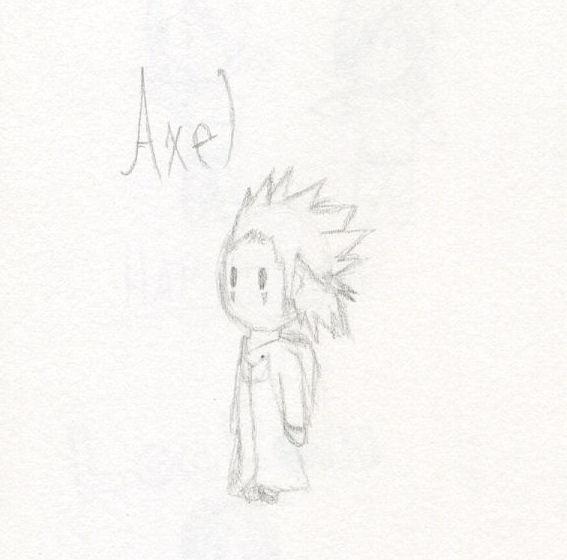 kh  chibi axel sketch by penguinandjohnnyfan on deviantart