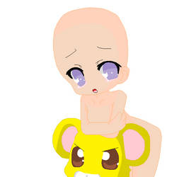 Chibi and hamster head base by khl1