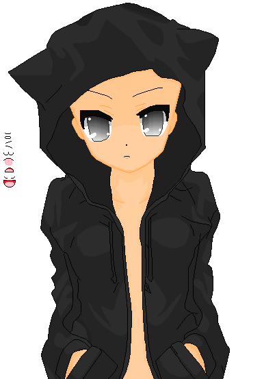 Kitty Hoodie Base by khl1 on DeviantArt Anime Female Base With Hoodie