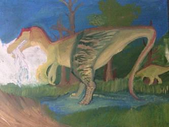 Baryonyx walkeri (WIP take 3) by GreenDinosaurSkin