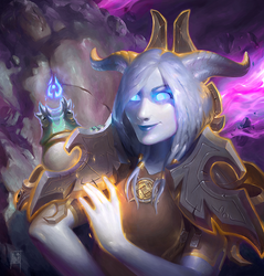 WoW commission - Draenei priest by Forest-Walker