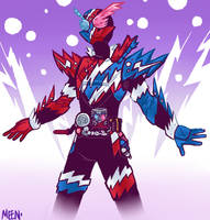 Kamen Rider Build RabbitTank Sparkling by MeensArts