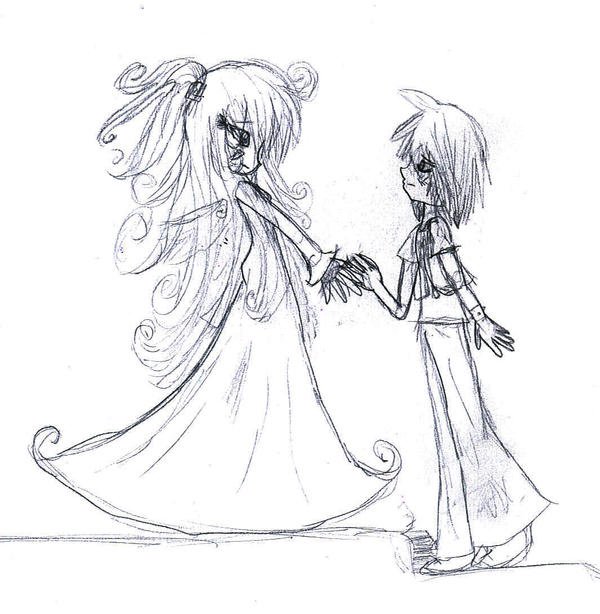 Take my hand. -rough sketch- by Coco-Apple