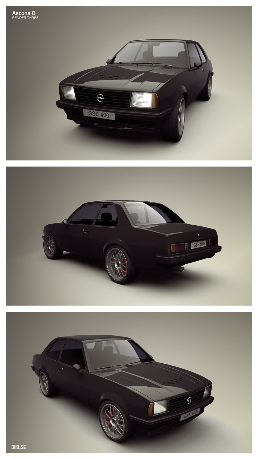 Opel Ascona Render Three by tetsuwan