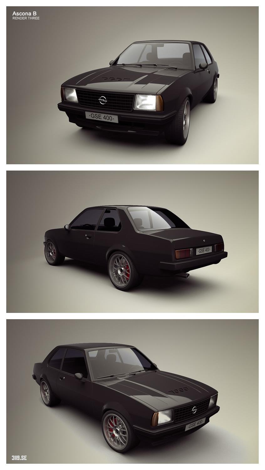 Opel Ascona Render Three by tetsuwan