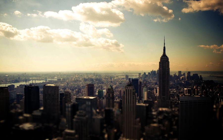 New York Wallpaper - PLAIN by JamesDeanee