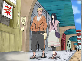 Naruto And Hinata Date After The Last Colour Pg1 by bluedragonfan