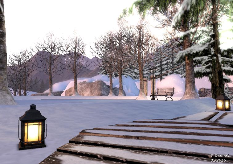 Lanterns in the snow II by TalieTramontane