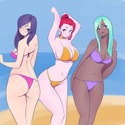 Cute Girls in Bikinis