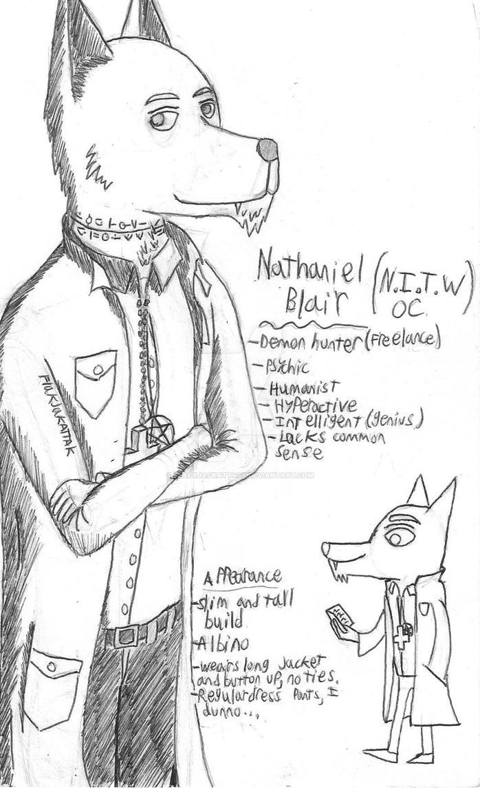 (N.I.T.W. OC) Nathaniel Blair by FlackJackAttack