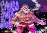 Gouken is BADASS SANTA by Demokun