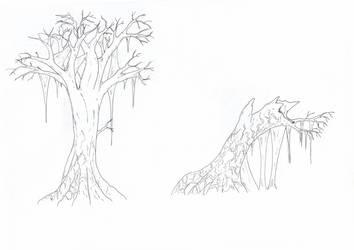 Grey meadows trees