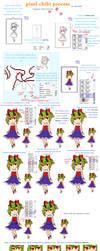 Pixel Chibi Process by akifei