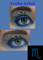 Vriska inspired makeup by thearabellablack