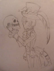 Ciel with Skull by thearabellablack
