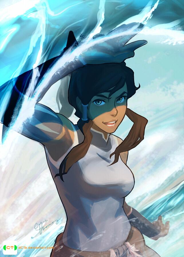 Korra In Her Element!! by dCTb