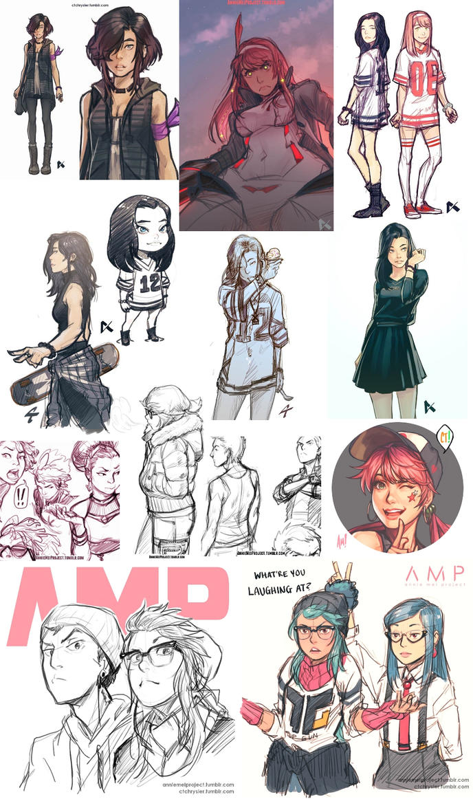 AMP Sketch Dump 1 by dCTb