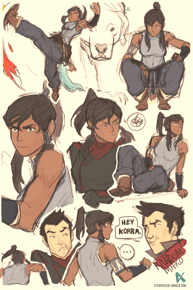 Some Korra sketches by dCTb